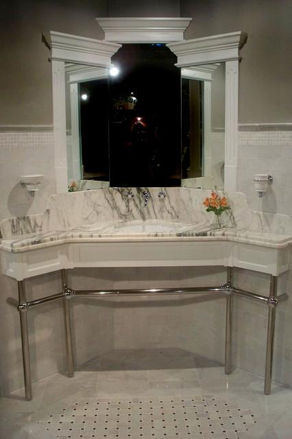 Medina Powder Room traditional-bathroom
