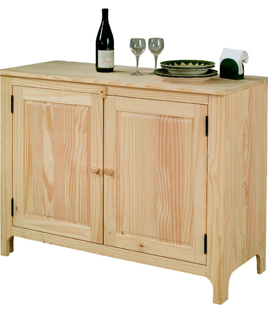 Unfinished Pine Sideboard Craftsman Buffets And