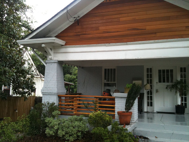 After Updated Bungalow Cedar Siding And Rails