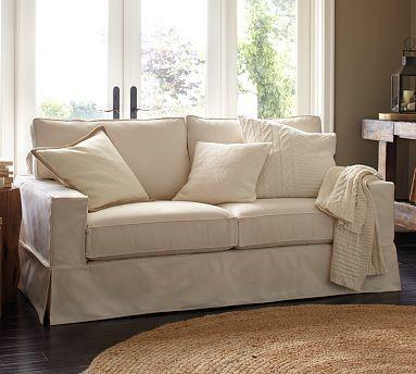 PB Comfort SquareGrand SofaTextured BasketWeaveIvorySetDown Blend traditional-sofas