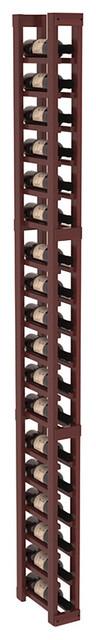 1 Column Split Bottle Wine Cellar Kit in Redwood, Cherry Stain + Satin Finish contemporary-wine-racks