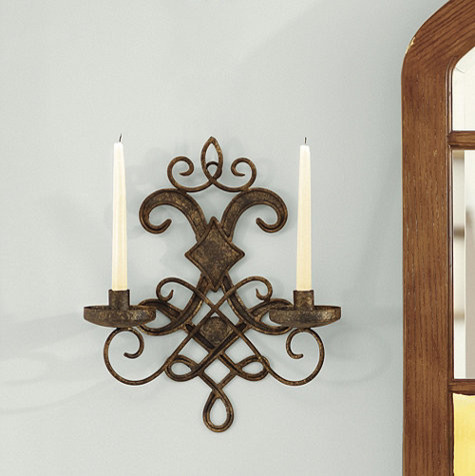 Traditional Wall Sconces With Candles : Mavelot Candle Sconce - Traditional - Wall Sconces - by Ballard Designs