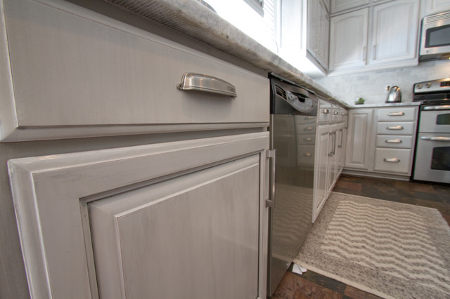 gray painted kitchen cabinets transitional nashville