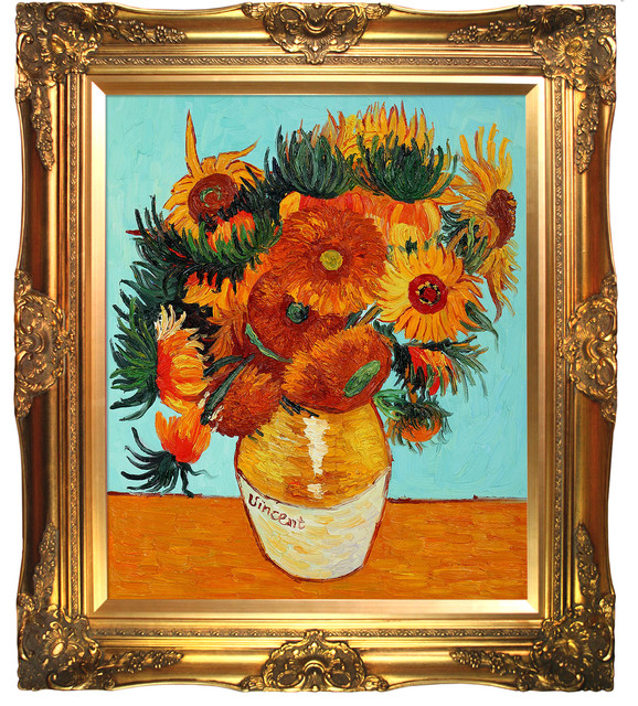 Van Gogh - Sunflower Collage (artist interpretation) Oil Painting modern-prints-and-posters