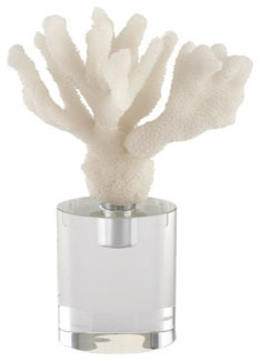 John-Richard Collection White Finger Coral Reproduction Sculpture traditional-artwork