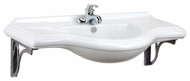 Extra Large Bathroom Sinks : Wall Mount Sinks White Extra Large Bayside Sink For 4