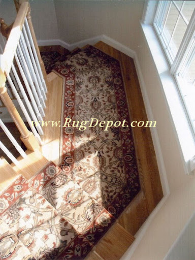 Pie Shaped Stairs Carpet Tiles Other Metro By Rug Depot