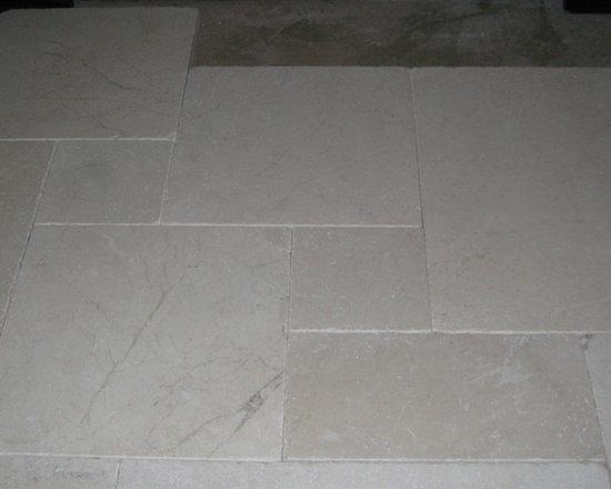 Elegant Bianco Tumbled Marble Pavers -
