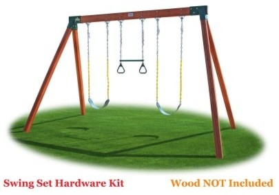 Eastern Jungle Gym Classic A-Frame Swing Set Hardware Kit Multicolor ...