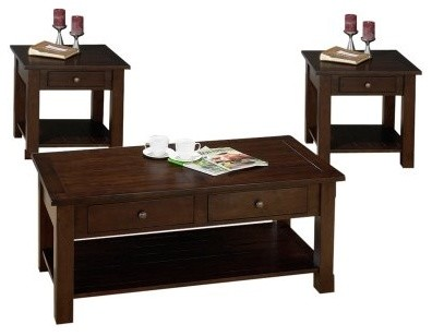 Jofran Charleston Coffee and End Table Set modern-coffee-tables