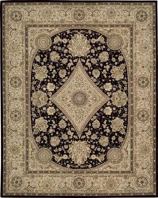 "Nourison 2000 2239 2'6"" x 4'3"" Black Rug contemporary-rugs"