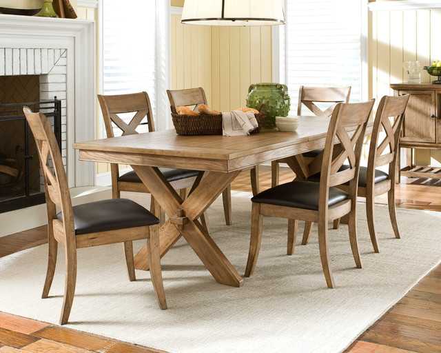 Rory light wood casual dining set dining tables for Casual dining lighting