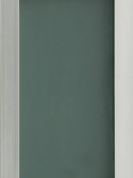 "Dura Supreme Cabinetry - Dura Supreme Cabinetry Aluminum Frame #3 Cabinet Door Style - Dura Supreme Cabinetry ""Aluminum Frame #3"" cabinet door style shown with a Satin Glass insert."
