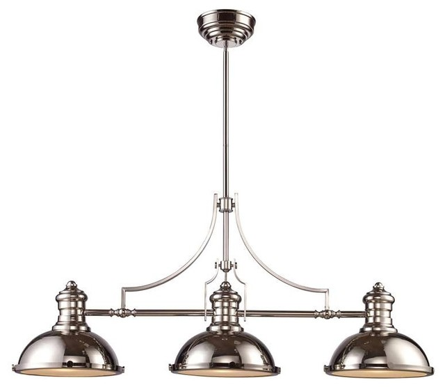 Chadwick 3 Light Pool Table Light: Elk Lighting 66115-3 Chadwick Transitional Island Light In