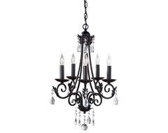 Murray Feiss F2758/5BK Nadia 5 Light Single Tier Chandelier, Black traditional-chandeliers