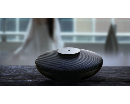 aroma diffuser SHA - combination of purple clay with metal net. with music and LED lightings