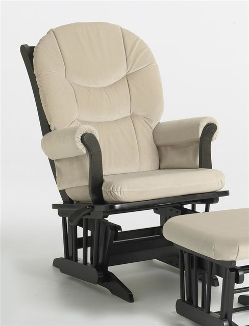 ... Reclining Glider Chair (Beige) contemporary-rocking-chairs-and-gliders