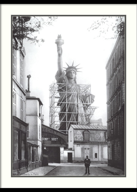 Statue of Liberty in Paris Framed Print traditional-prints-and-posters