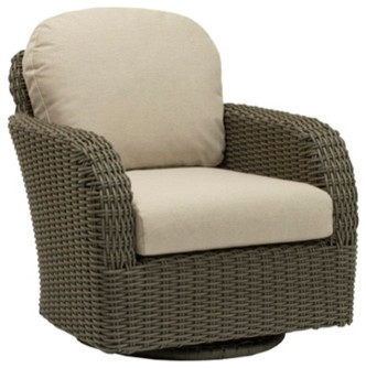 Swivel Club Chair Loose Cushions Contemporary Outdoor