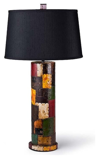 Regina Andrew Reclaimed Metal Patchwork Lamp traditional-table-lamps