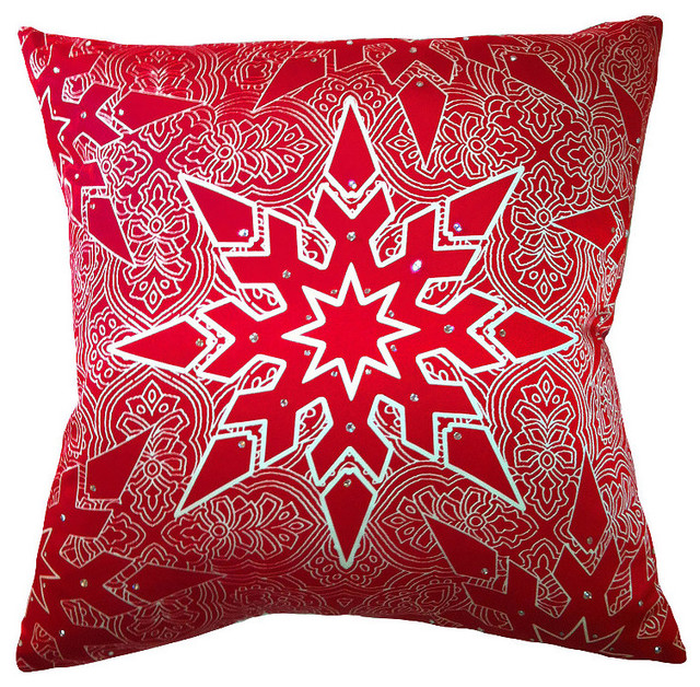Decorative Christmas Pillows Throws : Elegant Star Christmas Throw Pillow - Frontgate Christmas Decor - Traditional - Holiday ...