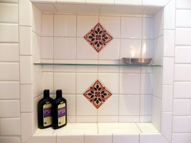 Tiled Recessed niches bathroom