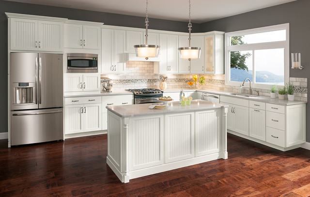 Cottage White Cabinets - Transitional - Kitchen - dc metro - by Shenandoah Cabinetry