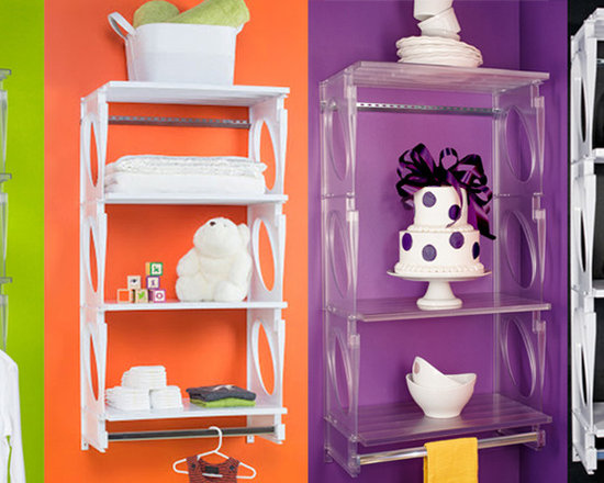 KiO Closet Storage - KiO Storage offers 2 foot shelving kits for multiple areas of your home including laundry rooms, baby rooms, closets, pantries, bathrooms, and kitchen storage. Additional shelves are available and can be added with ease.