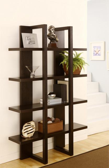Furniture of America Ellise 4-shelf Display Stand/ Storage Cabinet contemporary-storage-cabinets