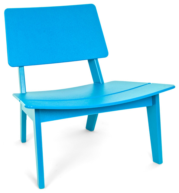 Loll Designs Adirondack Chair Lago Chair, Sky Blue - Contemporary - Outdoor Chairs - by ...