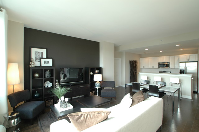Grant Street West Model Home contemporary-living-room