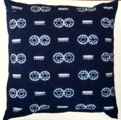 Japanese Shibori Tie Dyed Pillow Cover Eclectic