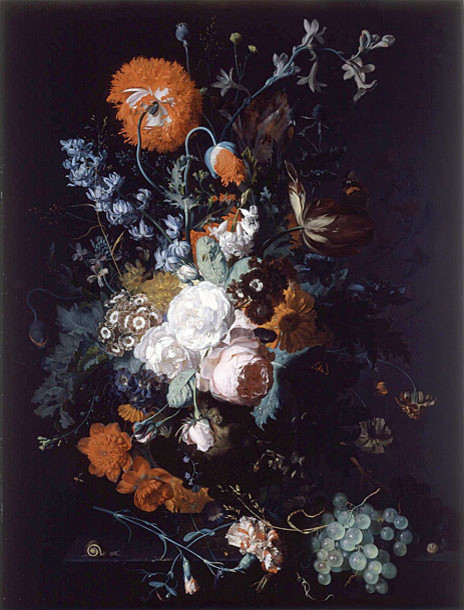 Still Life of Flowers and Fruit, c.1716/17 | Huysum | Canvas Print prints-and-posters