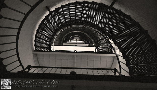 Spiral Staircase - St Augustine Lighthouse - Florida contemporary-artwork