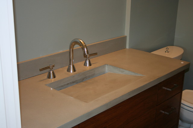 All In One Vanity Tops : Concrete bath sinks modern vanity tops and side