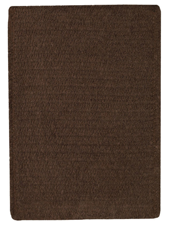 Chenille Creations rug in Brown - Create a comfy, cozy, and custom-made braided rug with Capel's Chenille Creations.  Strands of plush, all-natural, ultra soft cotton chenille weave together to create a soft and vibrant room accent.