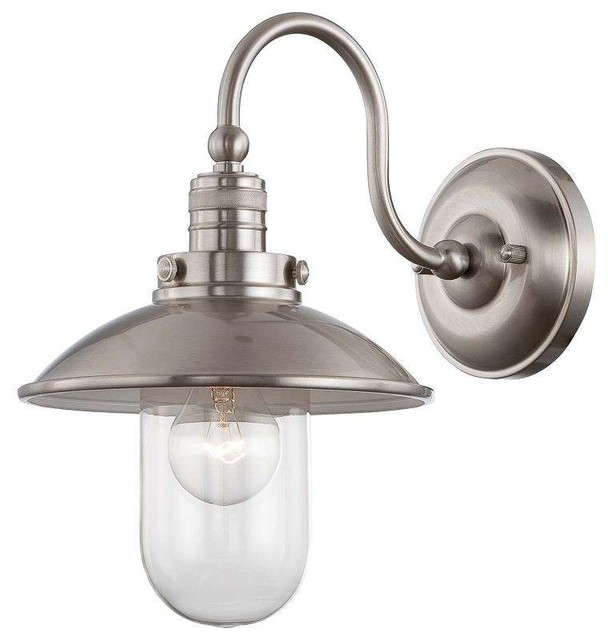 Wall Sconces Edison : Minka Lavery 71162-84 Downtown Edison Wall Sconce In Brushed Nickel - Contemporary - Wall ...