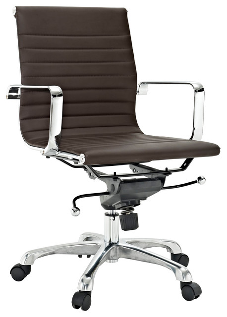 Discovery Mid Back Chair in Brown Vinyl modern-office-chairs