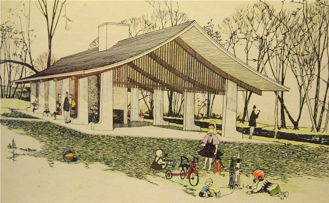 Island Park Shelter, Robert C. Metcalf, architect (1962)