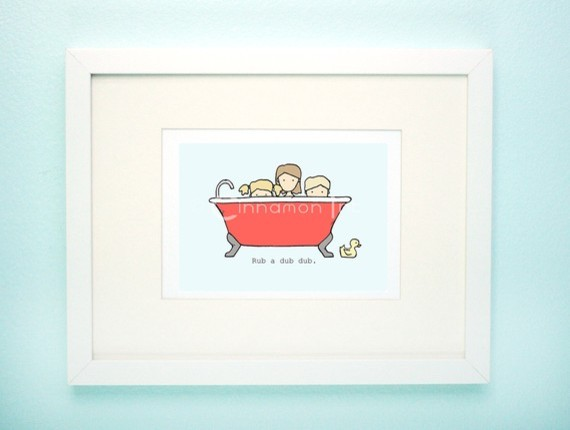 Children 39 S Bathroom Art Print By Cinnamon Ink
