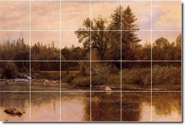 Landscape New Hampshire Tile Mural By Albert Bierstadt traditional-tile