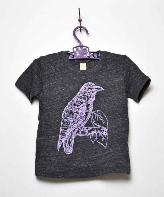 KLT works Raven Tee - eco charcoal modern-baby-and-kids