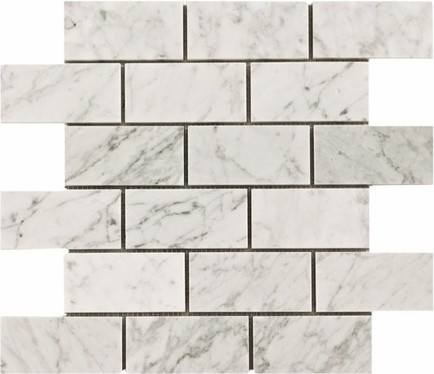 25SF Carrara Bianco 3x6 Marble Subway Tile Floor Tiles