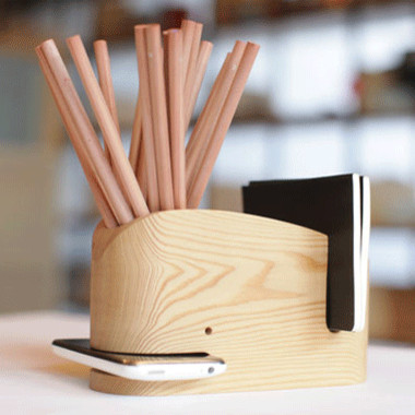 Wood Whale contemporary desk accessories