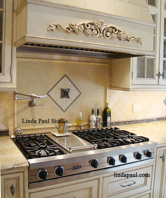 kitchen backsplash ideas tribeca medallion contemporary