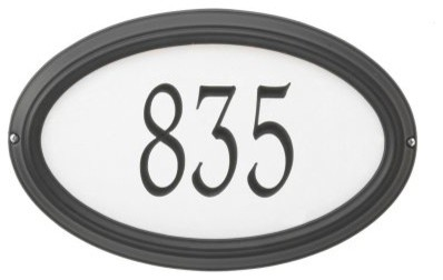 Whitehall Concord Oval Reflective Wall Address Plaque modern-house-numbers