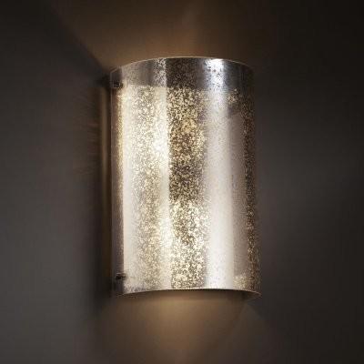 Justice Design Group Fusion FSN-5542W-MROR-DBRZ Finials Curved Wall Sconce - Dar modern-wall-lighting