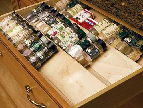 Spice Drawer Insert By Omega National Traditional Cabinet And Drawer