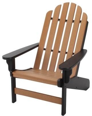 Pawleys Island Lifetime Essential Adirondack Chair Black
