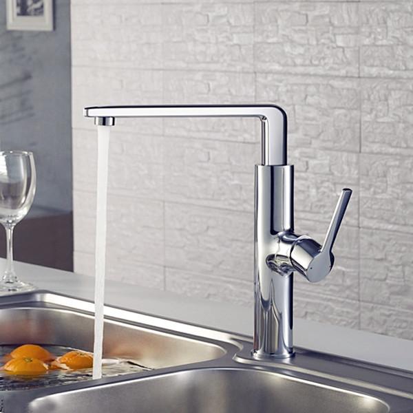 Modern Kitchen Faucets: Modern Swivel Single Handle Kitchen Faucet